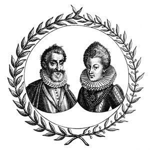 Masques de protection : Henri IV et Marie de Médicis